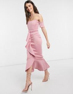 Różowa sukienka True Violet midi