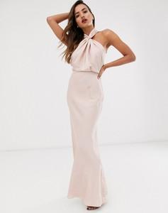 Różowa sukienka Asos Edition bez rękawów maxi