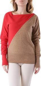 Brązowy sweter Richmond X w stylu casual z wełny