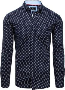 Granatowa koszula Dstreet z kołnierzykiem button down z długim rękawem z bawełny