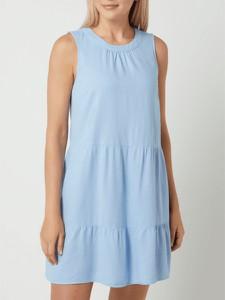 Niebieska sukienka Vero Moda mini bez rękawów z okrągłym dekoltem