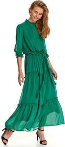 Zielona sukienka Top Secret maxi koszulowa