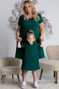 Sukienka KARKO trapezowa z dzianiny