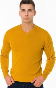 Żółty sweter M&m z bawełny