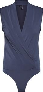 Niebieska bluzka Vero Moda bez rękawów z dżerseju