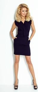 4d0455d4 Niebieskie sukienki wieczorowe z krótkim rękawem NUMOCO, kolekcja ...