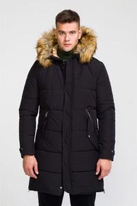 Czarny płaszcz męski Giorgio Di Mare w stylu casual
