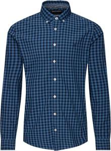 Niebieska koszula Marc O'Polo z długim rękawem z kołnierzykiem button down