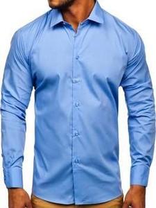 Niebieska koszula Denley z bawełny