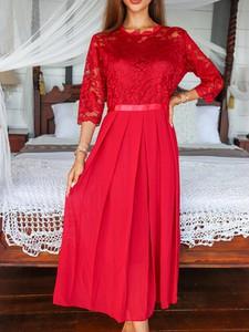 Sukienka Elegrina z długim rękawem