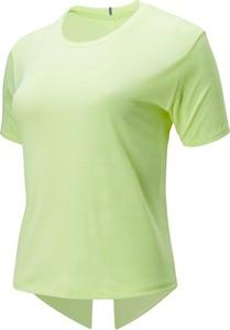 Bluzka New Balance z żakardu z krótkim rękawem