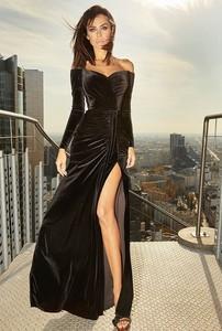 Sukienka LOU z długim rękawem maxi