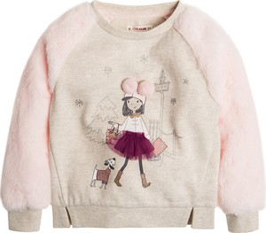 Różowa bluza dziecięca Cool Club z bawełny