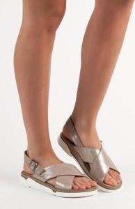 Sandały Czasnabuty na platformie w stylu casual ze skóry