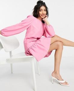 Różowa sukienka Forever New z okrągłym dekoltem mini