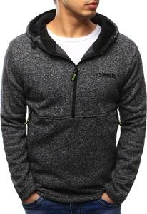 Dstreet bluza męska z kapturem grafitowa (bx3429)