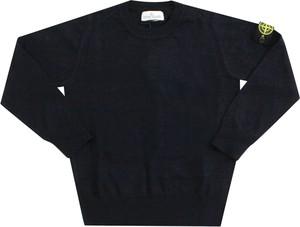 Czarna bluza dziecięca Stone Island z bawełny