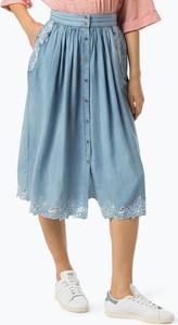 Niebieska spódnica Pepe Jeans w stylu casual midi