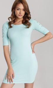 Sukienka Renee w stylu casual mini z krótkim rękawem
