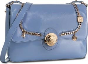 Niebieska torebka Liu-Jo średnia lakierowana