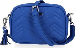 Niebieska torebka David Jones na ramię ze skóry ekologicznej