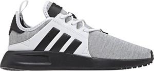 Buty sportowe Adidas Performance w młodzieżowym stylu ze skóry z płaską podeszwą