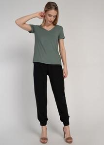 Zielona bluzka Cotton Club z krótkim rękawem