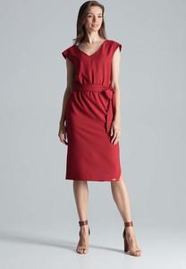 Czerwona sukienka Figl midi