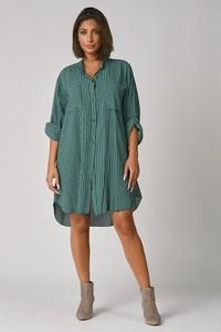 Zielona sukienka Plus Size Company z długim rękawem