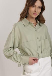 Zielona koszula Renee z długim rękawem