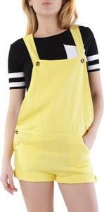 Żółte szorty Olivia Hops z dresówki w sportowym stylu