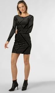 Czarna sukienka Noisy May z dżerseju dopasowana z długim rękawem