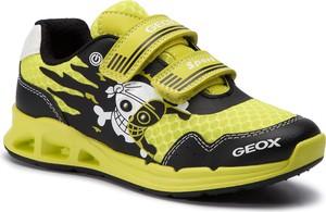 Zielone buty sportowe dziecięce Geox na rzepy