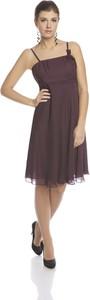 Fioletowa sukienka Fokus z tkaniny