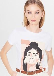 T-shirt Mohito z okrągłym dekoltem z nadrukiem z krótkim rękawem