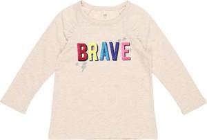 Bluzka dziecięca Gap z długim rękawem z bawełny