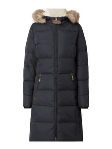 Granatowy płaszcz Ralph Lauren w stylu casual