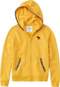 Żółta bluza dziecięca Abercrombie & Fitch