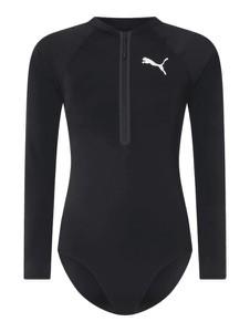 Czarny strój kąpielowy Puma w sportowym stylu