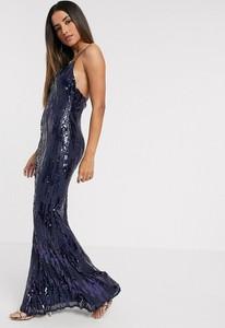 Sukienka Goddiva maxi na ramiączkach