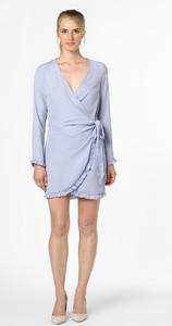 Niebieska sukienka NA-KD z długim rękawem mini