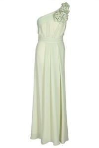 Zielona sukienka Fokus midi z przeźroczystą kieszenią z asymetrycznym dekoltem