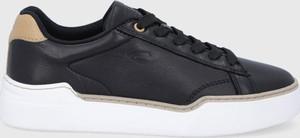 Czarne buty sportowe Camel Active sznurowane z płaską podeszwą