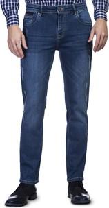 Niebieskie jeansy Giacomo Conti w street stylu z jeansu