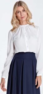 01fdc6b5498e6e eleganckie białe bluzki koszulowe - stylowo i modnie z Allani