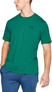 Zielony t-shirt Under Armour z krótkim rękawem