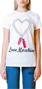 T-shirt Love Moschino z bawełny z krótkim rękawem