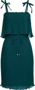 Zielona sukienka bonprix BODYFLIRT boutique na co dzień