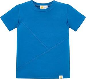 Niebieska koszulka dziecięca Bananakids z bawełny dla chłopców