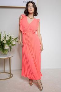 Sukienka Maravilla Boutique z długim rękawem z dekoltem w kształcie litery v